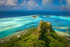 Vista della barriera corallina, Maupiti, Polynes francese Fotografia Stock