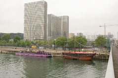 Vista della biblioteca nazionale della Francia a Parigi Fotografia Stock