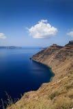 Vista della caldera, Santorini fotografia stock libera da diritti