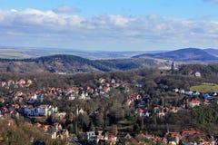 Vista della campagna di Thuringian e di Eisenach  Fotografie Stock