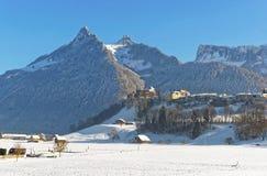 Vista della campagna in Svizzera nell'inverno Fotografie Stock Libere da Diritti