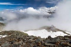 Vista della capanna della montagna Immagine Stock Libera da Diritti
