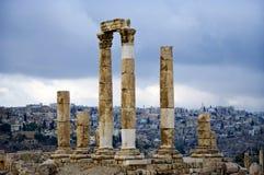 Vista della capitale Amman. Il Giordano. Fotografia Stock Libera da Diritti