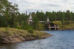 Vista della cappella di Valaam dei san Fotografie Stock Libere da Diritti