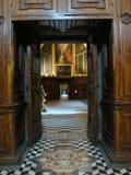 Vista della cappella ricca di nuovo tesoro del Chartreuse di St Martin a Napoli L'Italia Fotografia Stock