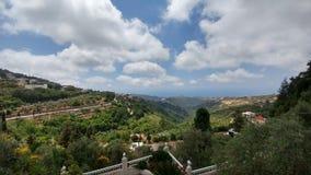 Vista della casa del Libano durante l'estate Immagine Stock