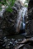 Vista della cascata di Millomeris nella regione di Platres, Cipro Immagini Stock Libere da Diritti