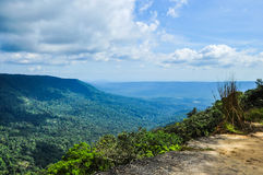 Vista della catena montuosa del paesaggio Fotografie Stock Libere da Diritti