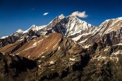 Vista della catena montuosa delle alpi a Zermatt Immagini Stock