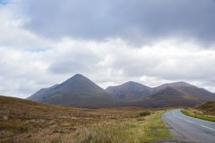 Vista della catena montuosa di Cuillin, Skye Fotografia Stock