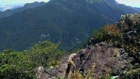 Vista della catena montuosa di Mulptiple fotografie stock