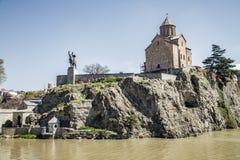 Vista della cattedrale antica di Tbilisi Immagini Stock