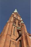 Vista della cattedrale da sotto fotografia stock