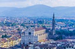 Vista della cattedrale del crocce e dei dintorni di Firenze Santa Immagine Stock