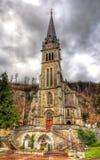 Vista della cattedrale del fiorino della st a Vaduz Immagini Stock Libere da Diritti