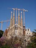 Vista della cattedrale del Gaudi Fotografia Stock Libera da Diritti