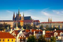 Vista della cattedrale della st Vitus, Praga, repubblica Ceca. Fotografia Stock Libera da Diritti