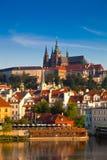 Vista della cattedrale della st Vitus, Praga, repubblica Ceca. Fotografie Stock