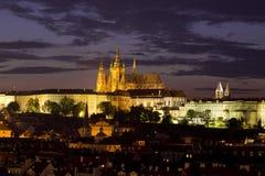 Vista della cattedrale della st Vitus, Praga, repubblica Ceca Immagini Stock Libere da Diritti