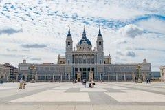 Vista della cattedrale di Almudena Fotografia Stock Libera da Diritti