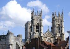 Vista della cattedrale di York Fotografia Stock Libera da Diritti