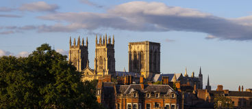 Vista della cattedrale di York Fotografia Stock