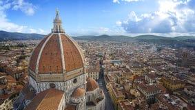 Vista della cattedrale Santa Maria del Fiore fotografia stock