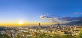 Vista della cattedrale Santa Maria del Fiore fotografie stock libere da diritti