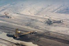 Vista della cava di superficie del carbone Fotografie Stock Libere da Diritti