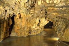 Vista della caverna di Postumia fotografia stock libera da diritti