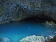 Vista della caverna di Zeus in GUZELCAMLI, TURCHIA immagine stock