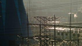 vista della centrale elettrica termica archivi video