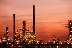 Vista della centrale petrolchimica della raffineria a Danzica, Polonia Fotografia Stock