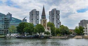 Vista della chiesa del ` s di St Mary in Battersea, Londra Fotografie Stock Libere da Diritti