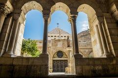 Vista della chiesa della natività Betlemme Fotografia Stock