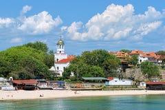 Vista della chiesa della st Cyril e della st Methodius in Sozopol, Bulgaria Immagine Stock Libera da Diritti