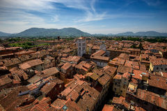 Vista della chiesa di San e di Lucca Michele, Lucca, Italia Fotografie Stock