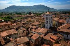 Vista della chiesa di San e di Lucca Michele, Lucca, Italia Fotografia Stock