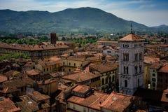 Vista della chiesa di San e di Lucca Michele, Toscana, Italia Immagine Stock