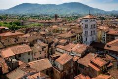 Vista della chiesa di San e di Lucca Michele, Toscana, Italia Fotografia Stock