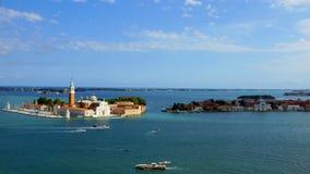 Vista della chiesa di San Giorgio Maggiore e di Grand Canal, Immagini Stock Libere da Diritti