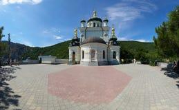 Vista della chiesa ortodossa Foros in Crimea Immagine Stock Libera da Diritti