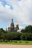 Vista della chiesa su sangue rovesciato Fotografia Stock Libera da Diritti