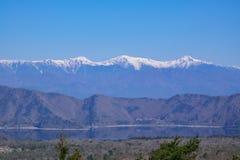 Vista della cima nevosa della montagna delle alpi del Giappone Immagine Stock Libera da Diritti