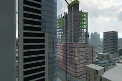 Vista della città Immagine Stock