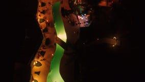 Vista della città alla notte da sopra Immagini Stock