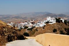 Vista della città, Alora, Andalusia, Spagna. Immagine Stock Libera da Diritti
