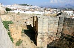 Vista della città andalusa di Antequera in Spagna Fotografia Stock