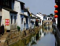 Vista della città antica di Luzhi fotografia stock