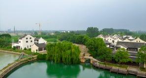 Vista della città antica di Wu zhen Immagini Stock Libere da Diritti